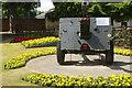 SJ2829 : Gun in Cae Glas Park, Oswestry by Stephen McKay