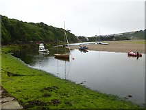 SX6643 : The estuary of River Avon at low tide by David Smith