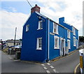 SN3860 : Blue semi-detached houses, Prospect Place, New Quay by Jaggery