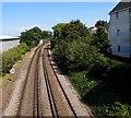 SZ1593 : Railway NE of Christchurch station by Jaggery