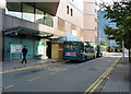 ST1876 : Canal Street bus terminus, Cardiff city centre by Jaggery