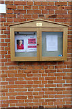 TM3569 : Peasenhall & Sibton Methodist Church Notice Board by Adrian Cable