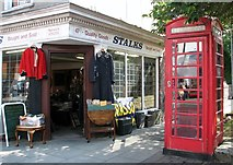 TG2309 : K6 telephone kiosk by St Saviour's church by Evelyn Simak