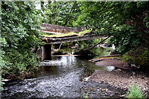 H5371 : Collapsed bridge over the Camowen River, Bancran / Bracky by Kenneth  Allen
