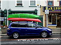 H4572 : Car with kayaks, Omagh by Kenneth  Allen