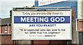 J3574 : Religious message, Ballymacarett, Belfast (July 2018) by Albert Bridge