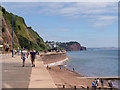 SX9473 : South West Coast Path at Teignmouth (East Cliff) by David Dixon