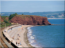 SX9777 : Coastal Railway and Langstone Rock by David Dixon