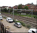 SU4766 : Electrification preparation in Newbury by Jaggery