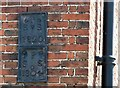 TG2208 : Assembly House (rear) - parish boundary markers by Evelyn Simak
