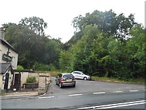 SO8712 : Road junction on Painswick Road by David Howard