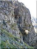 SH6358 : Central Cliff of Clogwyn y Geifr by Richard Law