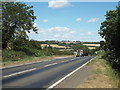SP7467 : A508 Harborough Road at Pitsford by Malc McDonald