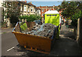 ST5874 : Skip and portable toilet, Redland by Derek Harper
