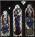 TL4680 : St Martin, Witcham - Stained glass window by John Salmon
