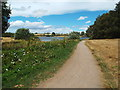 SP7769 : Path alongside Pitsford Water, Northamptonshire by Malc McDonald