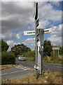 TL8527 : Signpost on Curds Road by Adrian Cable