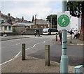 SO0451 : Llwybr Gwyrdd/Green Route sign in Builth Wells by Jaggery