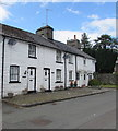 SN9668 : Row of white houses, Church Street, Rhayader by Jaggery