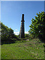 SW7344 : Killifreth Mine - calciner chimney  by Chris Allen