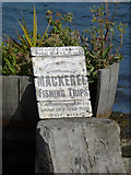 NS0767 : Old sign at former Port Bannatyne pier by Thomas Nugent