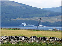 NS0768 : Ship at Ardyne Point, NATO Petrol, Oil And Lubricants (Pol) Depot by Thomas Nugent
