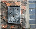 TG2308 : Tombland - parish boundary marker by Evelyn Simak