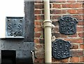 TG2308 : 39/41 Elm Hill - parish boundary markers by Evelyn Simak