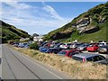 SX0586 : Trebarwith Strand - Carpark by Ashley Dace