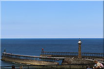 NZ8911 : Zoom photo of Whitby's Pier Extensions by Andrew Diack