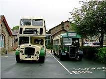 SD8789 : Vintage buses at Hawes by John Lucas