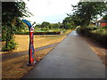 SP7386 : National Cycle Network marker post, Market Harborough by Malc McDonald