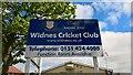 SJ5187 : Widnes Cricket Club - Entrance by BatAndBall