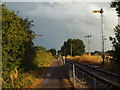 SP7367 : Semaphore signal next to Brampton Valley Way, near Brixworth by Malc McDonald