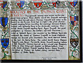 ST8663 : Key to heraldry within the Church of All Saints, Great Chalfield, Wiltshire by Brian Robert Marshall
