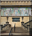 TQ3473 : Forest Hill : Horniman Museum mosaic panel by Julian Osley