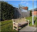 SJ2977 : Bicentenary Commemoration bench, Ladies Walk, Neston by Jaggery