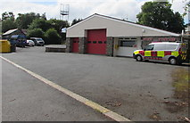 SN9768 : Rhayader Fire Station and vehicle by Jaggery
