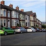 ST3288 : Cars and houses on the south side of Christchurch Road, Newport by Jaggery