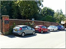 SK3616 : Wall at the Manor School, South Street, Ashby-de-la-Zouch by Alan Murray-Rust