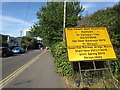 ST3188 : Yellow bilingual temporary sign, Caerleon Road, Newport by Jaggery