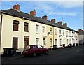 ST3188 : Wheelie bins and satellite dishes, Bishop Street, Barnardtown, Newport by Jaggery