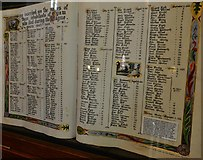 SK2176 : Eyam, St. Lawrence's Church: Register of those who died in the plague of 1665-1666 by Michael Garlick