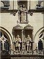 SP5106 : Statues on Oriel College by Philip Halling