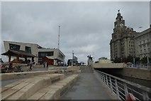 SJ3390 : Ferry terminal and Liver Building by DS Pugh