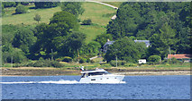 NS0374 : Boat passing Colintraive by Thomas Nugent