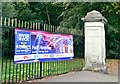 J3573 : Half marathon banner, Belfast (August 2018) by Albert Bridge
