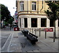 ST3188 : City centre benches near Costa, Newport by Jaggery