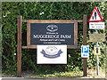 TQ7794 : Muggeridge Farm sign by Adrian Cable