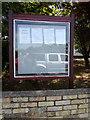 TQ7794 : Battlesbridge Free Church Notice Board by Adrian Cable